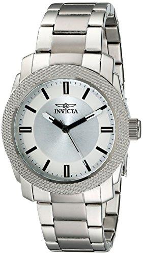 Invicta Men's 45mm Two Tone Steel Bracelet & Case S. Sapphire Quartz Silver-Tone Dial Analog Watch 18961