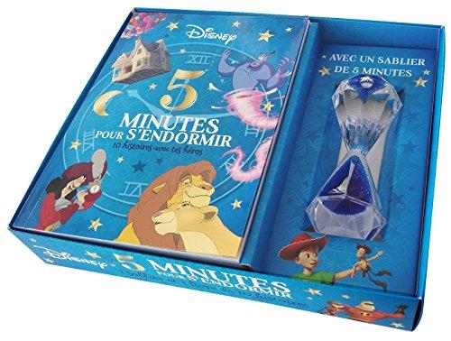 Coffret 5 minutes pour s'endormir : Contient : 1 livre et 1 sablier magique par Disney