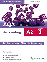 AQA A2 Accounting Student Unit Guide New Edition: Unit 3 Further Aspects of Financial Accounting