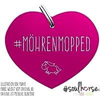 Pferde Glücksmarke #Mörenmopped Pink – Gücksbringer - Soulhorse Anhänger Halfter, Trense, Zaumzeug, Sattel, Vorderzeug