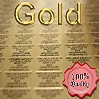 Personalised Labels 38mm x 21mm (Name & Address) x 260 Gold Labels / Black Text (See Product Description Below On How To Send Your Printing Details See Photo No 2 For Details)