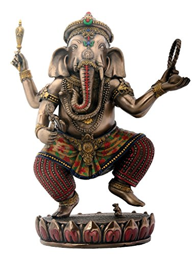 SUMMIT BY WHITE MOUNTAIN StealStreet Dancing Ganesha on Lotus Sammelfigur Hinduismus Skulptur