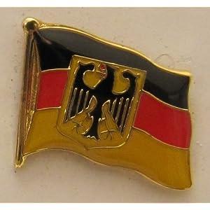 Buddel-Bini Versand Pin Anstecker Flagge Fahne Deutschland Dienstflagge Staatsflagge Adler Bundesadler Flaggenpin Badge Button Flaggen Clip Anstecknadel