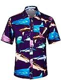 APTRO Herren Hemd Hawaiihemd Freizeit Hemd Kurzarm Urlaub Hemd Reise Shirt HW003 XL