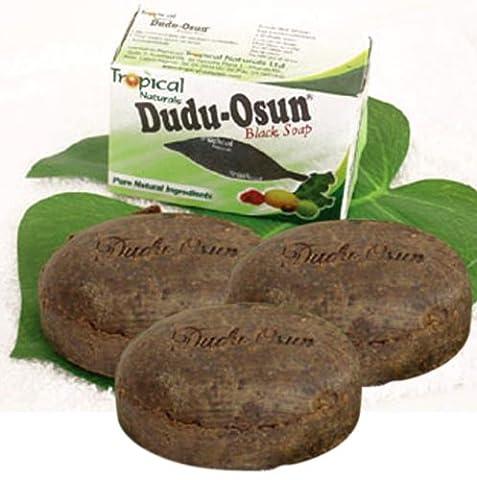 3x Dudu-Osun African Black Soap (100% Pure) Seife - bei Hautproblemen (Akne, Psoriasis, Dermatitis, Ekzeme) aus USa