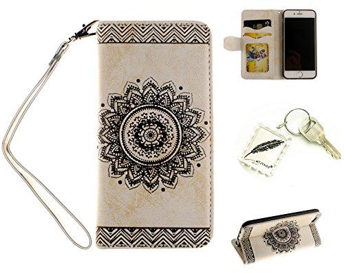 Silikonsoftshell PU Hülle für iPhone 6 Plus (5,5 Zoll ) Tasche Schutz Hülle Case Cover Etui Strass Schutz schutzhülle Bumper Schale Silicone case(+Exquisite key chain X1) #AN (4)