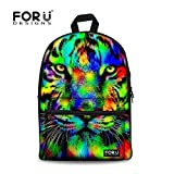 Best For U Designs Book Bags For Boys - For U Designs Leisure Tiger Backpack Canvas Animal Review