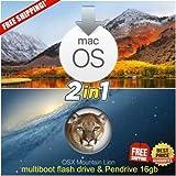 #10: macOS High Sierra + mac OS X Mountain Lion Bootable USB Drive 16GB