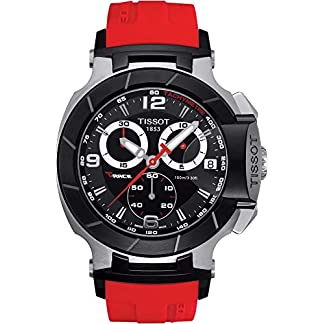 Tissot T-Race T0484172705701 – Reloj de Caballero de Cuarzo, Correa de Caucho