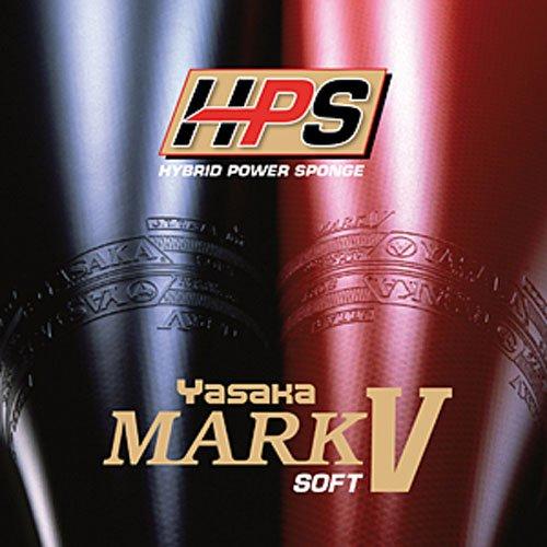 Yasaka Belag Mark V HPS Soft, 2,3 mm, schwarz (V Tischtennis-mark)