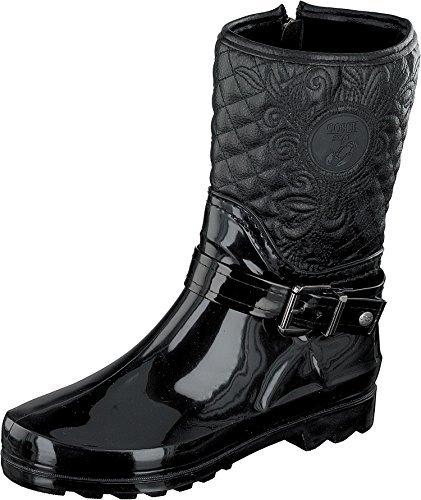 GOSCH SHOES Sylt - Damen Gummistiefel Naturkautschuk 7102-503-9 Black (41, Black)