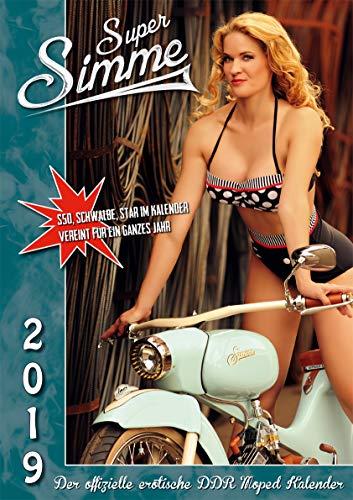 Der offizielle erotische DDR Moped A3 Simson Kalender - Super Simme 2019 - Neu