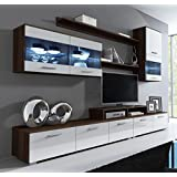 Muebles Bonitos – Mueble de salón Claudia wengué y blanco mod. 10(2,5m)