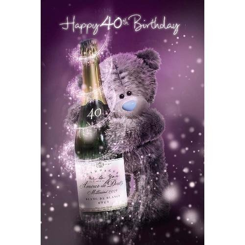3D Holographic 40th Birthday Me to You Bear Card