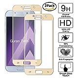 Guran [2 Paquete] Protector de Pantalla para Samsung Galaxy A5 2017 A520F [Full Coverage] Vidrio Cristal Templado 100% Cobertura Completa Film - Dorado