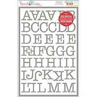 Hazel Ruby plastica & Maschera Peel Away-Stencil, motivo: lettere dell'alfabeto, 30 x 20 cm, 2 kg, motivo macchina da scrivere, lettere, 1,3 cm