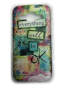 For SAMSUNG GALAXY J1 Hard Back Case Cover Matte Finish for A 5 BY MAD OVER COVERS EVERYTHING WILL BE OK QUOTATION Print Design