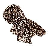 Leoparden Schal Damen braun