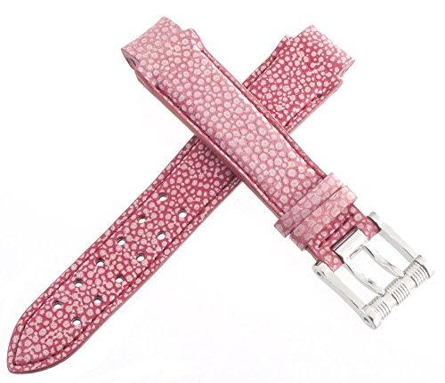 aquanautic Herren 's Pink Alligator Leder Uhrenarmband mit Stahl Schnalle 13mm