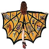TEBAISE Schmetterling kostüm Frauen Schmetterling Flügel Schal Schals Nymphe Pixie Poncho Kostüm Zubehör für Show/Daily / Party/Cosplay(Orange,Freie GRÖSSE)
