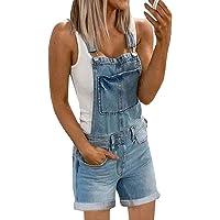 Onsoyours Tuta di Jeans Donna Tuta di Jeans Tuta Salopette di Jeans Slim Tuta Salopette Pantaloni Denim Pantaloncini…