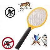 Electronic Mosquito Swatter, mamum Mosquito Killer Elektrische Tennis Bat Handheld Schläger Insekten Fly Bug Wasp Röhrich Einheitsgröße gelb