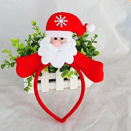GORDESC 1 STÜCK Santa Schneemann Bär Form Haarband Haarschleife haarschmuck Weihnachtsfeierversorgungen (4) (Haargummi Laufen)