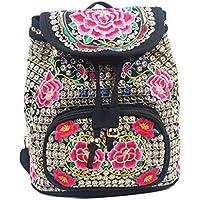 5202a9b857 Fletion cinese etnico Art ricamo zaino tela vintage zaino borsa da  trasporto con ricamato fatto a