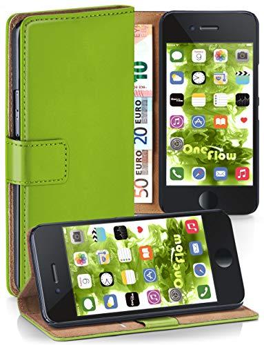 MoEx® Booklet mit Flip Funktion [360 Grad Voll-Schutz] für iPhone 6S / iPhone 6 | Geldfach und Kartenfach + Stand-Funktion und Magnet-Verschluss, Grün