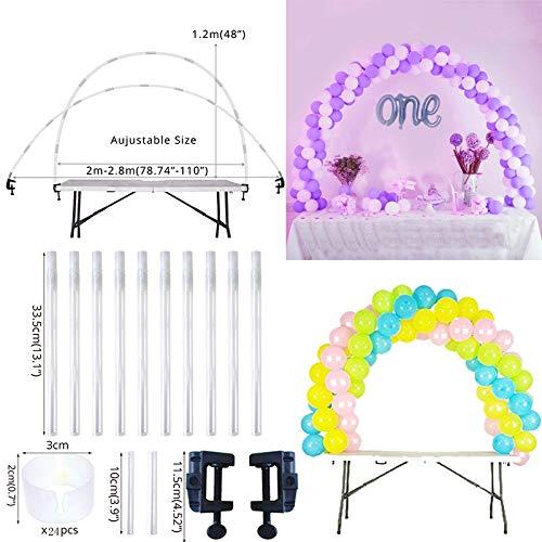 Arch Tisch Stand Geburtstag Party Ballons Zubehör Schellen Hochzeit Dekoration Tabelle Ballons Arch Rahmen Kit ()