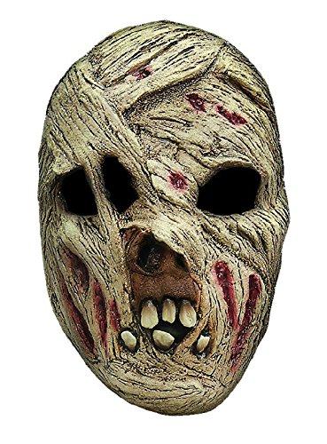 Mumie Maske des Grauens aus Latex zum Zombie Kostüm Halloween (Kostüm Mumie Maske)