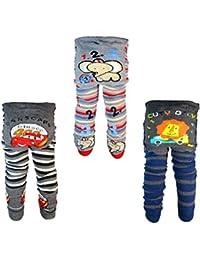 Backbuy 3 pantalones 0-24 meses para bebés niños leggings pantalones de punto D4D5E2