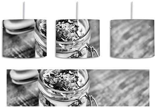 Monocrome, Jogurt Müsli im Glas inkl. Lampenfassung E27, Lampe mit Motivdruck, tolle Deckenlampe, Hängelampe, Pendelleuchte - Durchmesser 30cm - Dekoration mit Licht ideal für Wohnzimmer, Kinderzimmer, Schlafzimmer