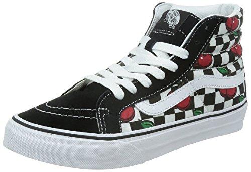 Vans U Sk8-Hi Slim Cherry Checkers, Baskets Basses Mixte Adulte Multicolore (Cherry Checkers/Black/True White)