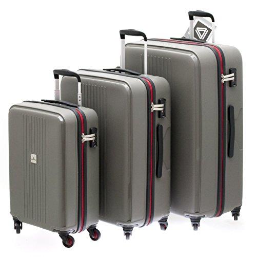 1 valise ultra-résistante taille moyenne cadenas TSA DAVIDT'S TRITON DARK GREY 65 cm