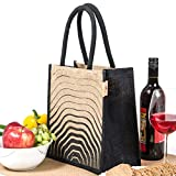 #3: H&B Lunch bag (Wave,black, Size: 11x9x6 inches )