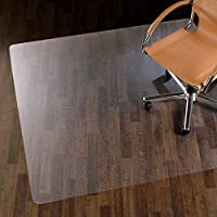 etm Chair Mat for Hard Floors - Pure Polycarbonate, No-Recycled Material   90 x 120 cm (3' x 4') - Transparent
