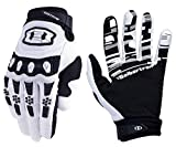 Seibertron Dirtpaw Unisex rutschfeste Bike Bicycle Cycling/Radsport Racing Mountainbike Handschuhe für BMX MX ATV MTB Motorcycle Motocross Motorbike Road Off-Road Race Touch Screen Gloves Weiß XS