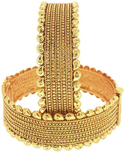Shining Diva Traditional Jewellery Gold Plated Fancy Copper Bangles For Women