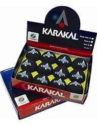 Karakal Pro Squash deportes pelotas de práctica y formación de juego interior), color negro