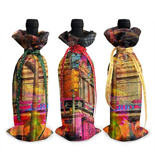 treet City Night View Wrap Home Party Decoration, Champagne Bottle Bags-Dinner, Party Table DÃcor ()