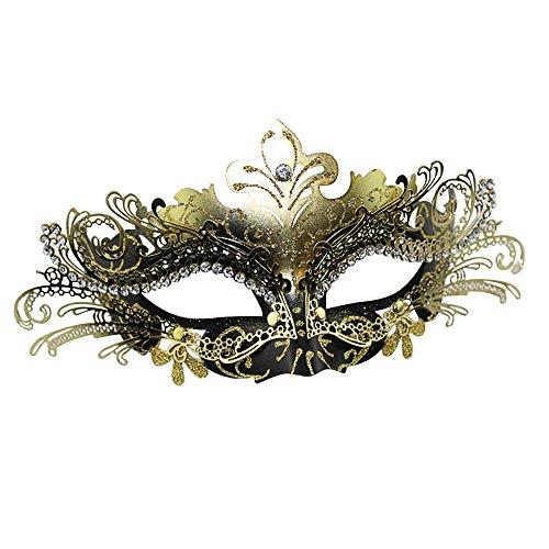 SZTARA Abschlussball Partei Laser Cut Metall Filigran venetianische Maskerade mit Strass (Opern Kostüme Italienische)