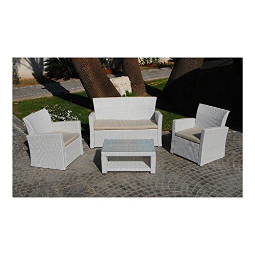 Möbelset FLOOR - Sofa 2 Plätze + 2 Sessel + Tisch