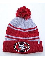 """49ers San Francisco–Rouge, gris manchette """"Palmer Bonnet avec Pom NFL Pantalon d'hiver Bonnet en tricot"""