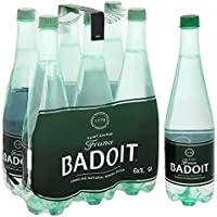 Badoit Naturally Sparkling Mineral Water, 6 x 1 L