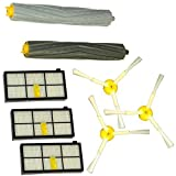 Set Ersatzteile iRobot Roomba 800Serie (870, 871, 880usw.)–3x Filter, 2x Bürsten, 3x rotierenden Bürsten