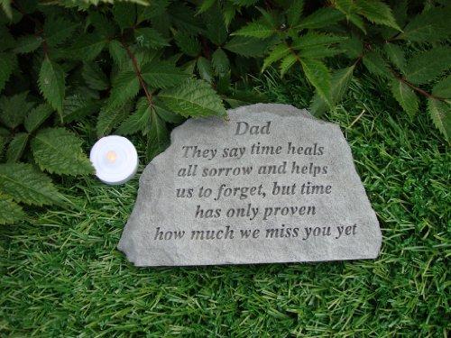 Gedenkstein, mit Gravur-Dad They say time heals..., zur Erinnerung an den Vater