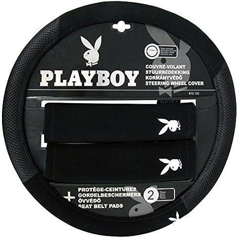 Playboy pb-8101051Coprivolante Auto Standard di 37a 39cm e 2para-polsi Cinture Automobili