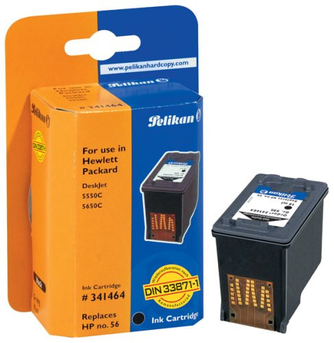 Pelikan H05 C6656A Druckerpatrone (ersetzt HP 56) schwarz (Hp Tintenpatrone Psc 1210v)