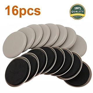 Ezprotekt 8,9cm Rund möbelgleiter für teppichboden teppich gleiter für stühle Möbel Bein Bodenschoner Teppich beweglichen, 16 Stück